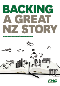 open book with text backing a great NZ story